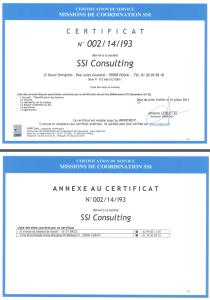 Certificat CSSI I93 SSI Consulting