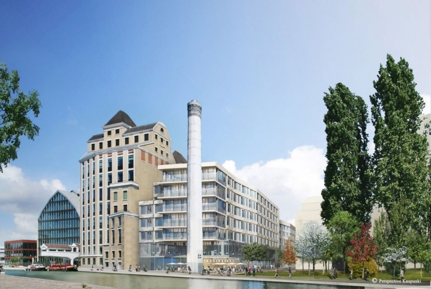 Construction, par BNP Paribas Promotion Immobilier d'Entreprise, d'un immeuble à usage de bureaux, restaurant d'entreprise et parking Projet Compans Pantin